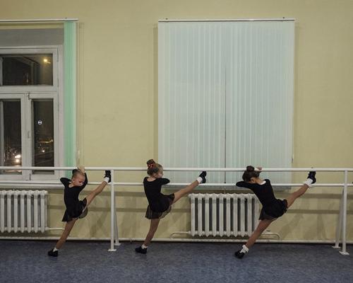 Μολδαβία, πόλη Chisinau (πρωτεύουσα), 2016. Σχολή χορού. Republic of Moldova, Chisinau, 2016. Dance school in Chisinau.